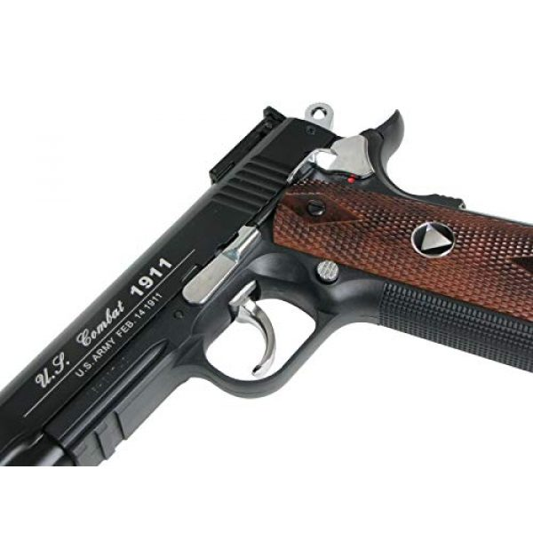 WinGun Airsoft Pistol 5 WG Special Combat Pistol 1911 CO2 Blowback Airsoft Pistol Black with Brown Grip
