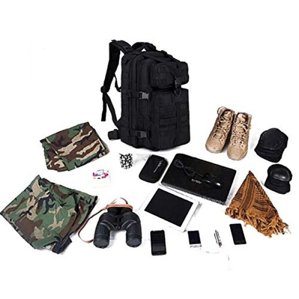 Cadet Gear Tactical Backpack 7 Tactical Assault Pack, Black Military Backpack, Army Survival Molle 35L, 40L