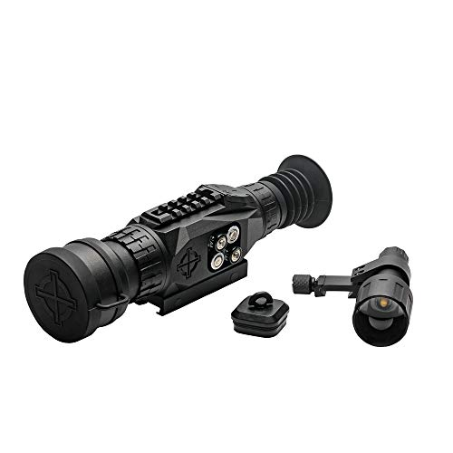 Sightmark Rifle Scope 7 Sightmark Wraith HD 4-32x50 Digital Riflescope Bundle with 4 AA Batteries, Battery Case and Lumintrail Cleaning Cloth