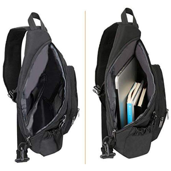 Vanlison Tactical Backpack 3 Vanlison Sling Backpacks, Sling Chest Bags Shoulder Crossbody Bags for Men Women Outdoor Travel Walking Dog Running