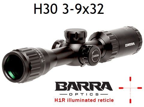 Barra Rifle Scope 1 Barra BDC Reticle Capped Turrets for Hunting and Tactical Shooting