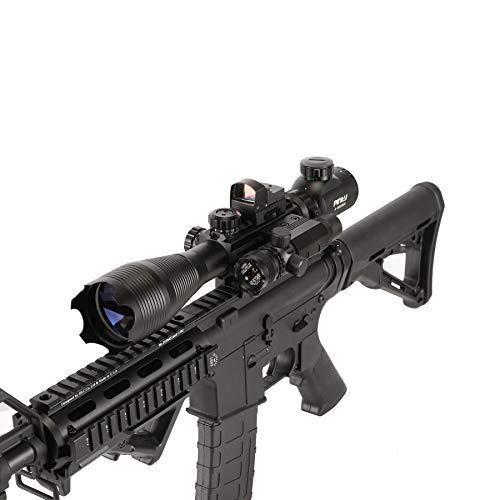 Pinty Rifle Scope 5 Pinty Rifle Scope 4-16x50, Illuminated Optics, Green Laser, Red-Coating Reflex Mini Sight