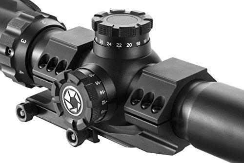 BARSKA Rifle Scope 4 Barska AC12138 Rifle Scope 1-6x32 Red/Green Illuminated Mil-Dot Reticle with Cantilever Ring