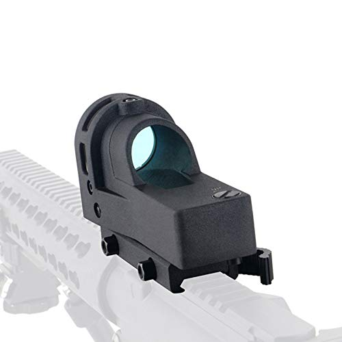 UELEGANS Rifle Scope 4 UELEGANS Red Dot Tactical Self-Illuminated Reflex Sight for Shooting Riflescope with Kill Flash Anti Reflection Device Protector for Hunting, Sport Shooting Airsoft