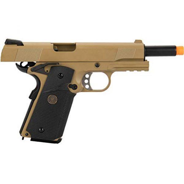 Lancer Tactical Airsoft Pistol 6 Lancer Tactical WE 1911 Full Metal MEU Airsoft Gas Blowback Pistol with Picatinny Rail TAN 350 FPS