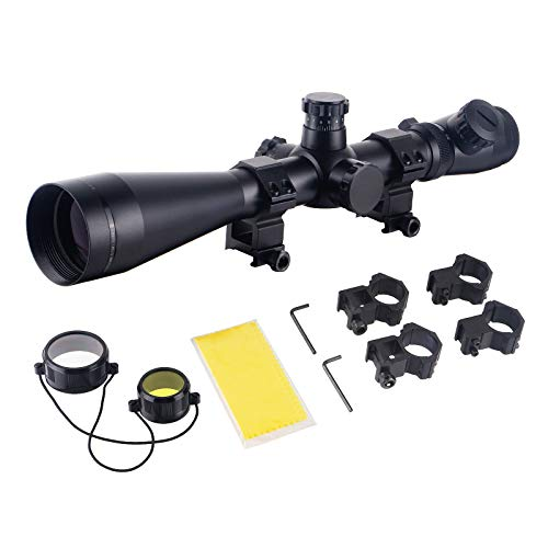 ToopMount Rifle Scope 1 ToopMount 3.5-10x50mm Rifle Scope SF M1 Optics Red Illuminated Riflescope Tactical Scope for 11 level Controls with 11, 20mm Rings