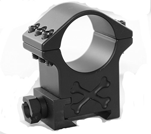 Talley Rifle Scope Mount 1 30mm Tactical Ring (Black Armor) (Extra High) (6 Screw)(Set of 2 Rings)
