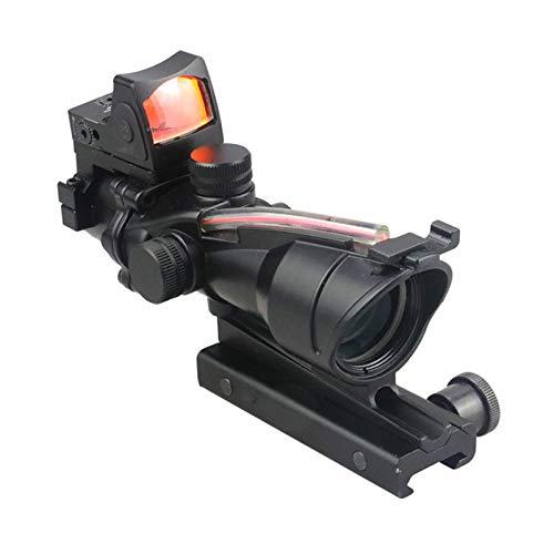 AJDGL Rifle Scope 6 AJDGL Optic Scope 4x32 Scope True Fiber Red Illuminated Crosshair Reticle Scopes with 20mm Rail Mount Holographic Sight