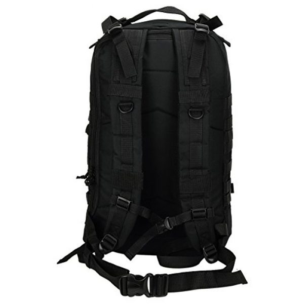 """NPUSA Tactical Backpack 7 Mens Large 21"""" Tactical Gear Molle Hiking Hydration Ready Backpack Daypack Bag + Key Ring Carabiner"""