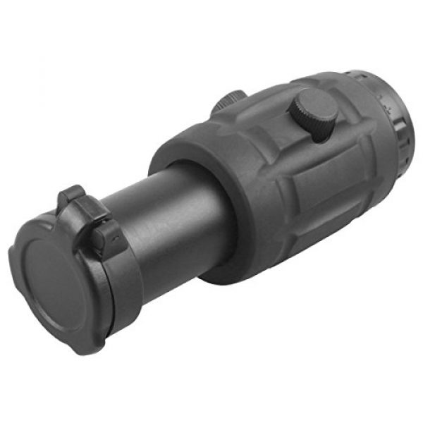 Vector Optics Rifle Scope 2 Vector Optics 3X, 4X, 5X Tactical Maginifier with Flip-to-Side Detach Quick Release QD Picatinny Mount and Flip-up Scope Lens Cover for Red Dot Reflex Sight (Matte Black) (3X) (3X)