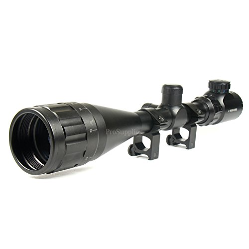 TACFUN Rifle Scope 1 TACFUN 6-24x50 Hunting Scope Red & Green Mil-dot Illuminated Optical Scope