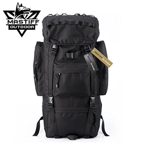 Mastiff Outdoor Tactical Backpack 7 Mastiff Outdoor Adventure Rucksack MOLLE Hiking Camping Gear Travel Survival Functional Backpack