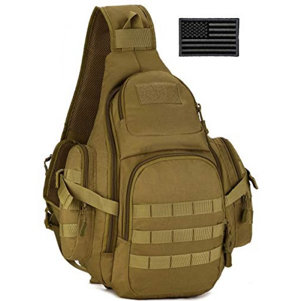 Protector Plus Tactical Backpack 1 Protector Plus Tactical Sling Bag Military MOLLE Crossbody Pack (Patch Included)