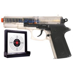 Colt Airsoft Pistol 1 Soft Air Colt Double Eagle Spring Powered Airsoft Pistol with Target (Clear)