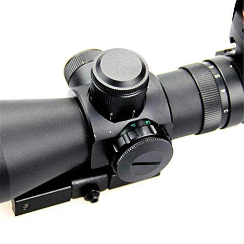 DJym Rifle Scope 7 DJym 3-9X42E and HD107R Combined Sights, Rifle Scope Waterproof, Shockproof and Anti-Fog