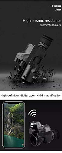 DJym Rifle Scope 7 DJym High-Definition Night Vision Infrared Night Shooting Hunting Night Vision, Night Vision Monoculars (Sight Accessories)