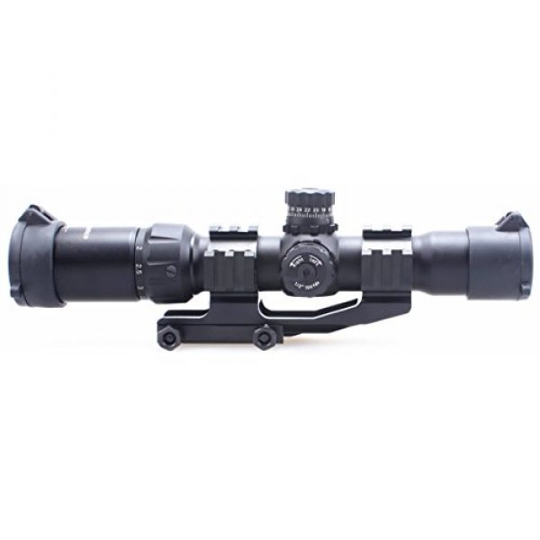 Vector Optics Rifle Scope 3 Vector Optics 1.5-4x30mm 1/2 MOA Tactical Riflescope with Red, Green & Blue Illuminated Chevron Reticle, Free 30mm One Piece Triple Rails Mount Rings (Matte Black)
