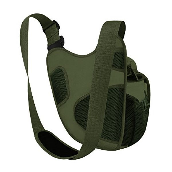 East West U.S.A Tactical Backpack 4 East West U.S.A RT511 Tactical Shoulder Sling Trail Pack with bottle holder