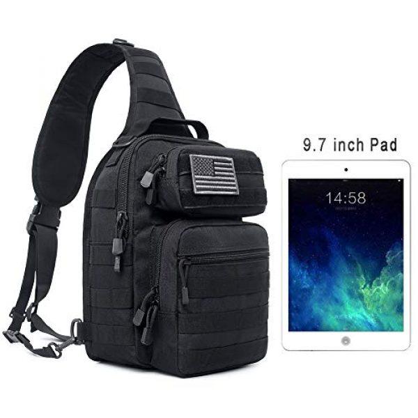 Tacticool Tactical Backpack 4 Tactical Sling Bag Pack Military Rover Shoulder Sling Backpack Molle Assault Range Bags Chest Pack Day Pack Diaper Bag