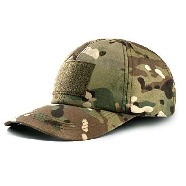 GLORYFIRE Tactical Hat 1 Tactical Hat Military Hat Camo Hat with 6 PCS Tactical Patches Adjustable Breathable Durable Cotton Camouflage Baseball Cap for Hiking Shooting Hunting and Other Outdoor Activities Suitable for Men