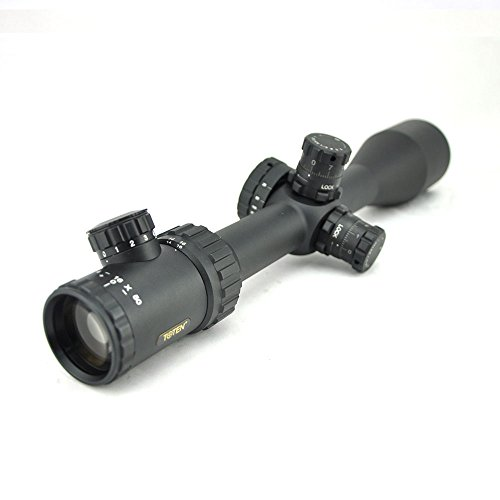 TOTEN Rifle Scope 6 TOTEN Rifle Scope 4-16X50DL Gun Scope with Picatinny 21mm Mounting Rings for Viewing