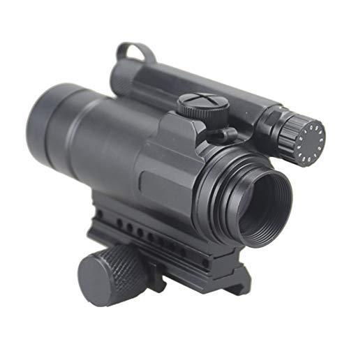 UELEGANS Rifle Scope 1 UELEGANS Red Dot Sight, M2 Hunting Riflescope Sight Red Green Dot Rifle Scope Riflescope for 20mm Rail