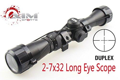 TACFUN Rifle Scope 2 TACFUN AIM Sports Mosin Nagant 2-7x32 Long Eye Relief Scope Fits Mosin Nagant 1891/30 M39