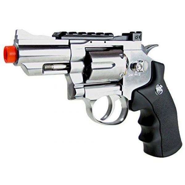 "Boomingisland Airsoft Pistol 2 Boomingisland Wingun 708 2.5"" Airsoft CO2 Revolver Silver"