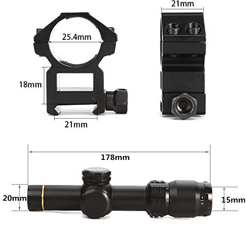 Robin Hunting Rifle Scope 3 Robin Hunting 2-8X20 Tactical Optical Sight with 11/20mm Rail Mount Rings Shooting Outdoor Rifle Scope