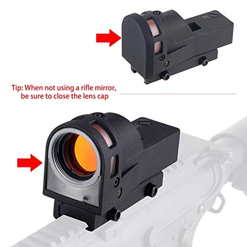UELEGANS Rifle Scope 6 UELEGANS Red Dot Tactical Self-Illuminated Reflex Sight for Shooting Riflescope with Kill Flash Anti Reflection Device Protector for Hunting, Sport Shooting Airsoft