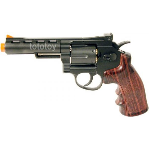 "Boomingisland Airsoft Pistol 1 Boomingisland Wingun 701 4"" Airsoft CO2 Revolver Black"