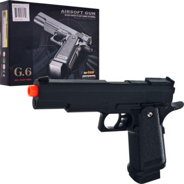 Whetstone Airsoft Pistol 3 Whetstone G.6 Zinc Alloy Shell Super Power Pistol, Black
