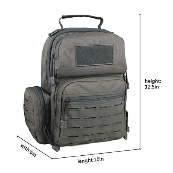 LQArmy Tactical Backpack 5 LQArmy Tactical Sling Bag Day Pack Military Rover Shoulder Backpack Small EDC Molle Assault Range Bags for Everyday Carry Out