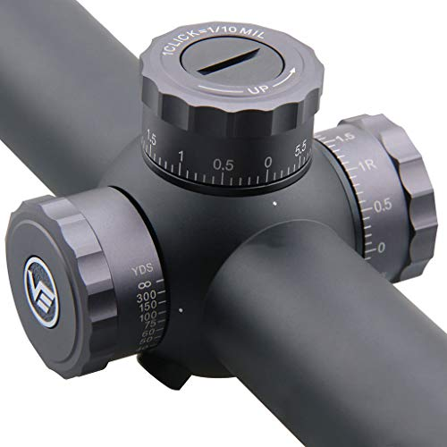 Vector Optics Rifle Scope 6 Vector Optics Marksman 6-24x50mm, 1/10 MIL, 30mm Tube, First Focal Plane (FFP) Hunting Riflescope