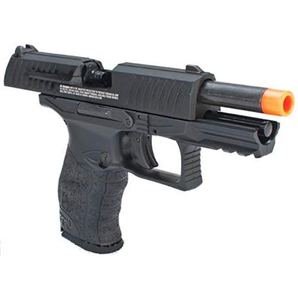Umarex Airsoft Pistol 2 Umarex Walther PPQ Mod 2 Gas Blowback Airsoft Pistol with Included Elite Force Airsoft Green Gas Can and Wearable4U Pack of 1000 6mm 0.20g BBS Bundle