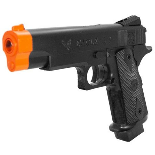 DPCI Airsoft Pistol 2 airsoft eagle 5 1 model# 585-2011a gun pistol 1 1 real scale highgrade type air sport gun 2011a fps 95 size 8.5(Airsoft Gun)
