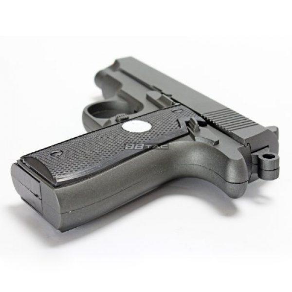 BBTac Airsoft Pistol 5 bbtac bt-g2 full metal slide body sub compact 240 fps spring airsoft gun and tactical skeleton hammer(Airsoft Gun)