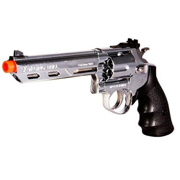 HFC Airsoft Pistol 3 HFC hg-133 6 barrel gas revolver, silver airsoft gun(Airsoft Gun)