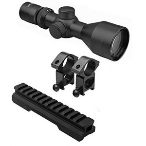 M1Surplus Rifle Scope 1 M1SURPLUS Optics Kit with Tactical 3-9x40 Compact Rifle Scope + Rings and Picatinny Mount Fits Mossberg MMR Remington Model 597 Ruger SR22 Rifles