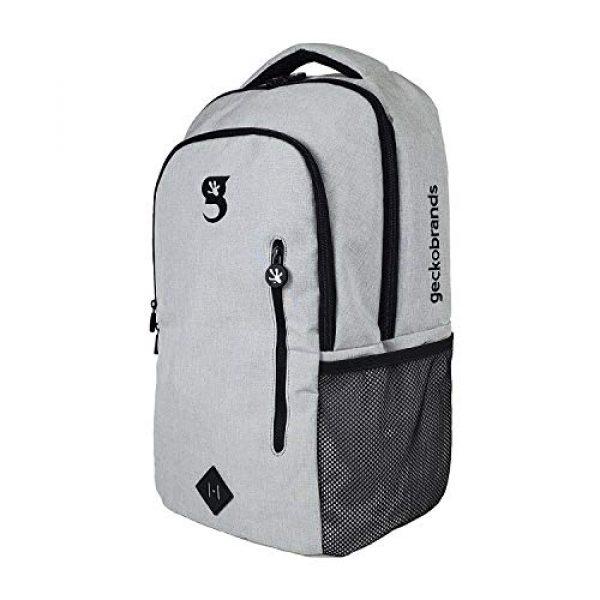"""geckobrands Tactical Backpack 3 geckobrands Ambition Backpack """" School/Work Backpack, Light Grey"""