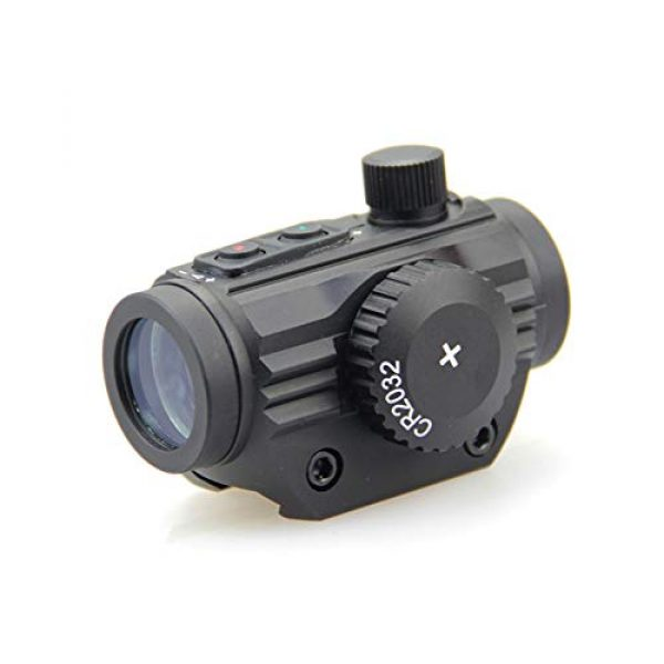 DJym Rifle Scope 1 DJym HD Silver Film Without Magnification, Red Dot Sight Shockproof Waterproof Stable Sight