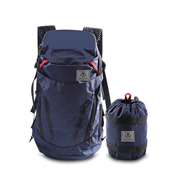 4Monster Tactical Backpack 1 4Monster 28L Ultralight Travel Backpack Foldable Hiking Camping School Sports Packs Laptop Daypack Outdoor Casual Waterproof Bag Navy Classic Sporty Style for Men Women