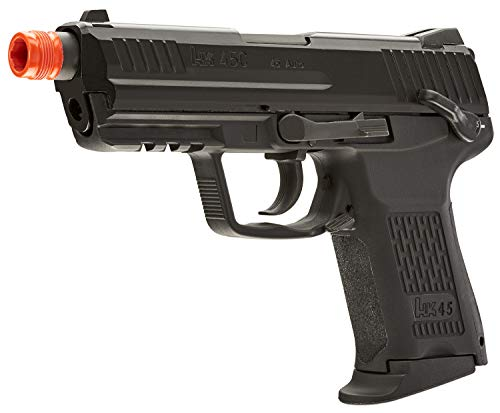 Umarex Airsoft Pistol 2 Umarex HK Heckler & Koch HK45 GBB Blowback 6mm BB Pistol Airsoft Gun, Black, HK45 Compact GBB, one Size (2275034)