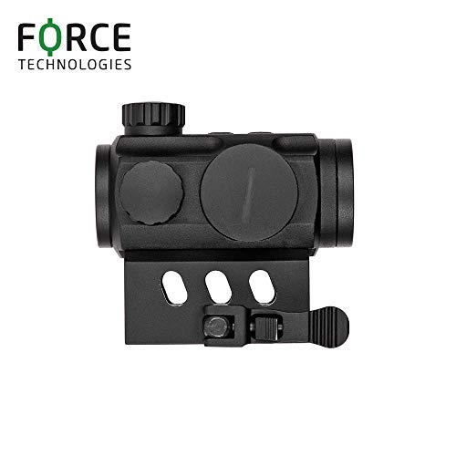 NANA Rifle Scope 3 Force Technologies Red Dot Sight RDS-21, 4 MOA, Matte Black, with QD-Mount for Weaver/Picatinny