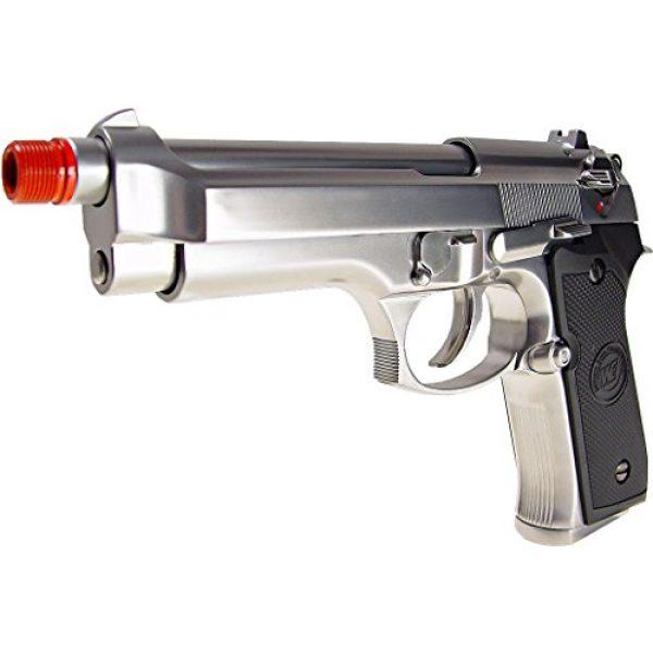 WE Airsoft Pistol 2 WE m92 gas/co2 blowback full metal - silver(Airsoft Gun)