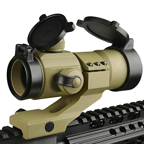 Ahlmanstr Rifle Scope 4 Ahlmanstr Micro Rifle Scope 1x30 Blue Green Red Dot Sight with Cantilever Mount Fits Weaver Rails for Hunting Shooting Range Outdoors Tan Color