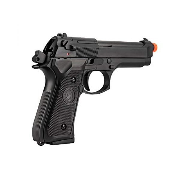 Lancer Tactical Airsoft Pistol 6 Lancer Tactical Double Bell M92 U.S. Army Gas Blowback Airsoft Pistol Black 300 FPS