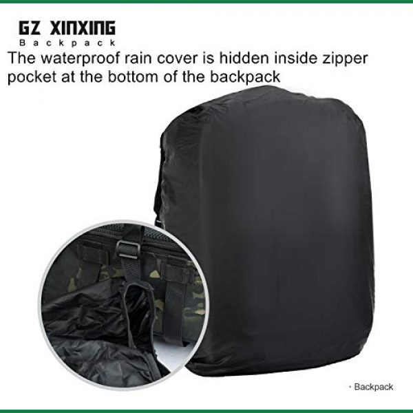 GZ XINXING Tactical Backpack 6 GZ XINXING 43L Large 3 day Molle Assault Pack Military Tactical Army Backpack Bug Out Bag Rucksack Daypack