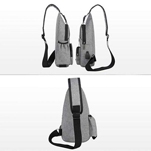 ChangYou Tactical Backpack 6 ChangYou Sling Bag Chest Backpack with USB Charging Port Polyester Shoulder Bag for Outdoor Sports Travel