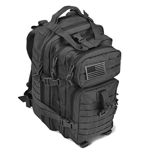 REEBOW GEAR Tactical Backpack 2 REEBOW G Military Tactical Backpack,Small Molle Assault Pack Army Bug Bag Backpacks Rucksack Daypack with Tactical US Flag Patch Black
